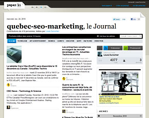 Marketing Web Québec, le Journal